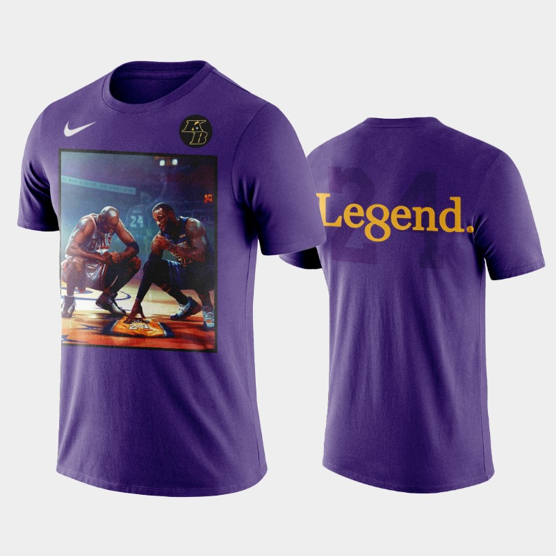 Los Angeles Lakers Kobe Bryant Legend RIP T-Shirt - Purple