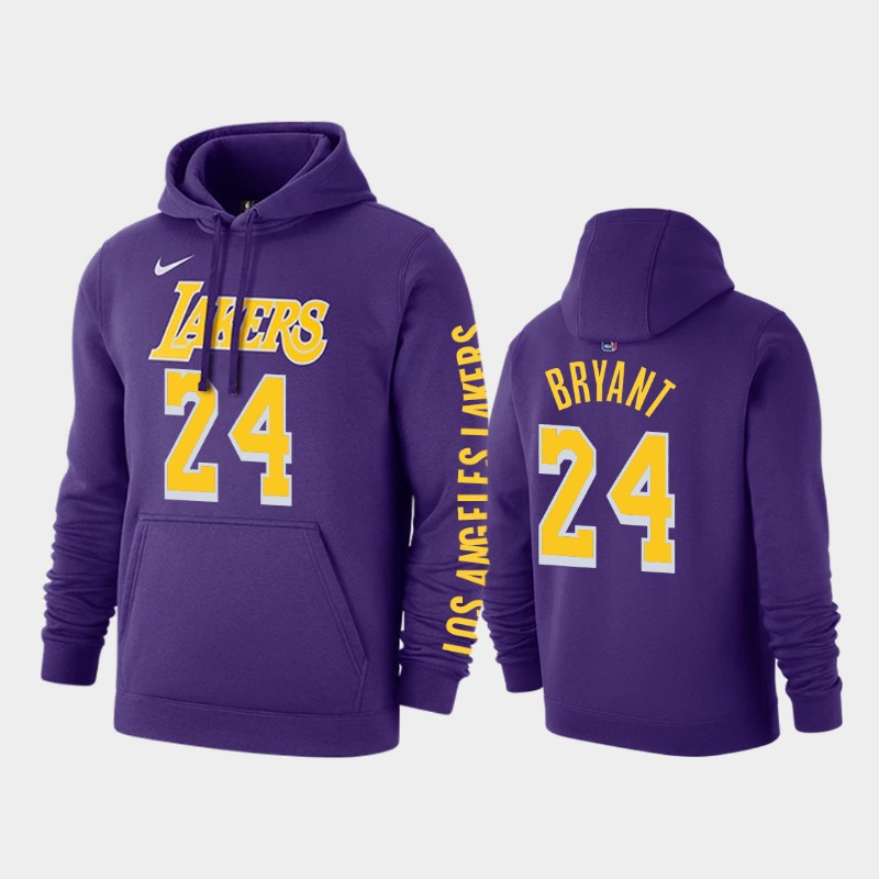 Los Angeles Lakers #24 Kobe Bryant Statement Purple Pullover Hoodie