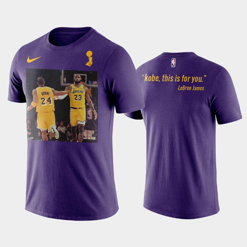 Kobe Bryant Los Angeles Lakers Purple This is for You Name & Number T-Shirt
