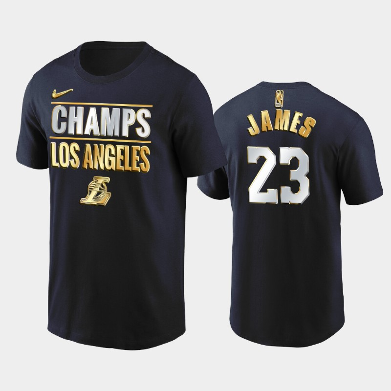 LeBron James Los Angeles Lakers Navy 2020 Western Finals Champs Golden Limited T-Shirt