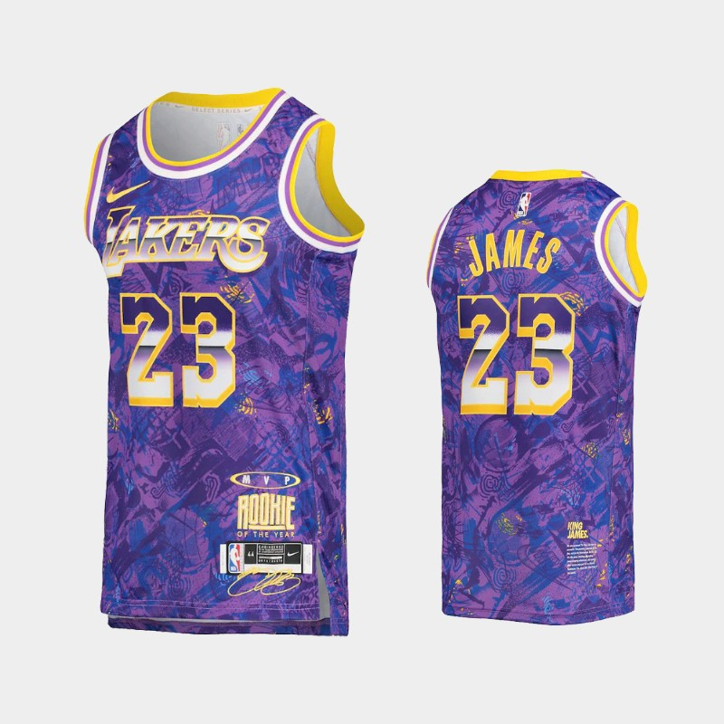 Los Angeles Lakers LeBron James Select Series MVP Jersey - Purple
