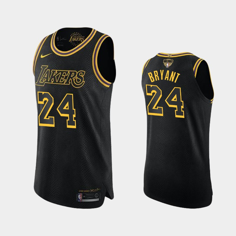 Kobe Bryant Lakers 2020 NBA Finals Bound Black Kobe Tribute Authentic Jersey