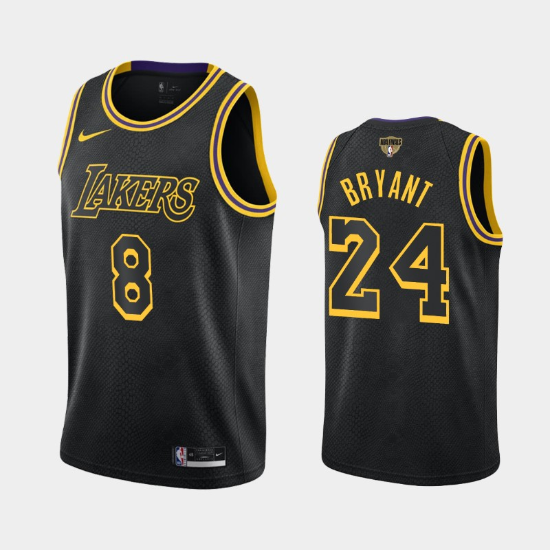 Kobe Bryant Lakers 2020 NBA Finals Bound Black Dual Number Kobe Tribute City Jersey