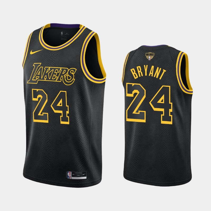 Kobe Bryant Lakers 2020 NBA Finals Bound Black Kobe Tribute City Jersey