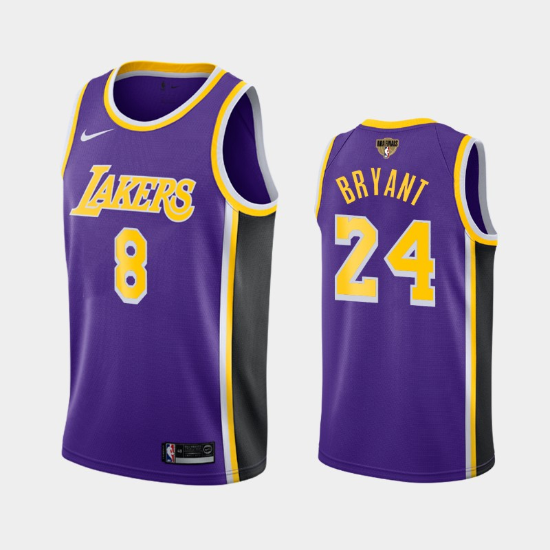 Kobe Bryant Lakers 2020 NBA Finals Bound Purple Dual Number Statement Jersey