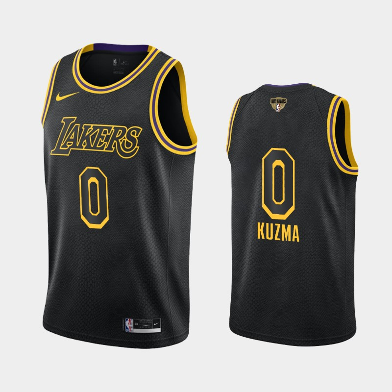 Kyle Kuzma Lakers 2020 NBA Finals Bound Black Mamba Edition Social Justice Jersey