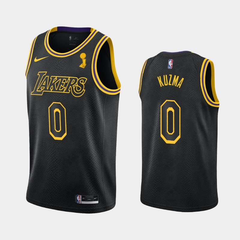Kyle Kuzma Lakers 2020 NBA Finals Champions Black Mamba Tribute City Jersey