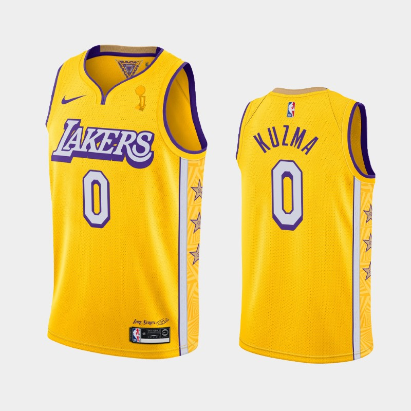 Kyle Kuzma Lakers 2020 NBA Finals Champions Gold City Jersey