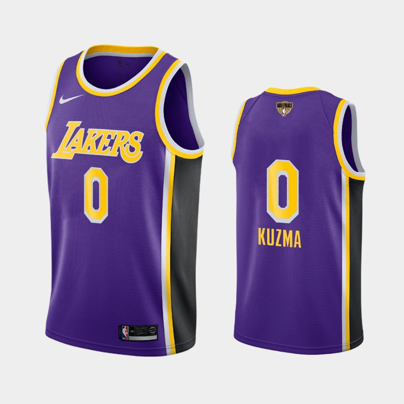 Kyle Kuzma Lakers 2020 NBA Finals Bound Purple Statement Social Justice Jersey