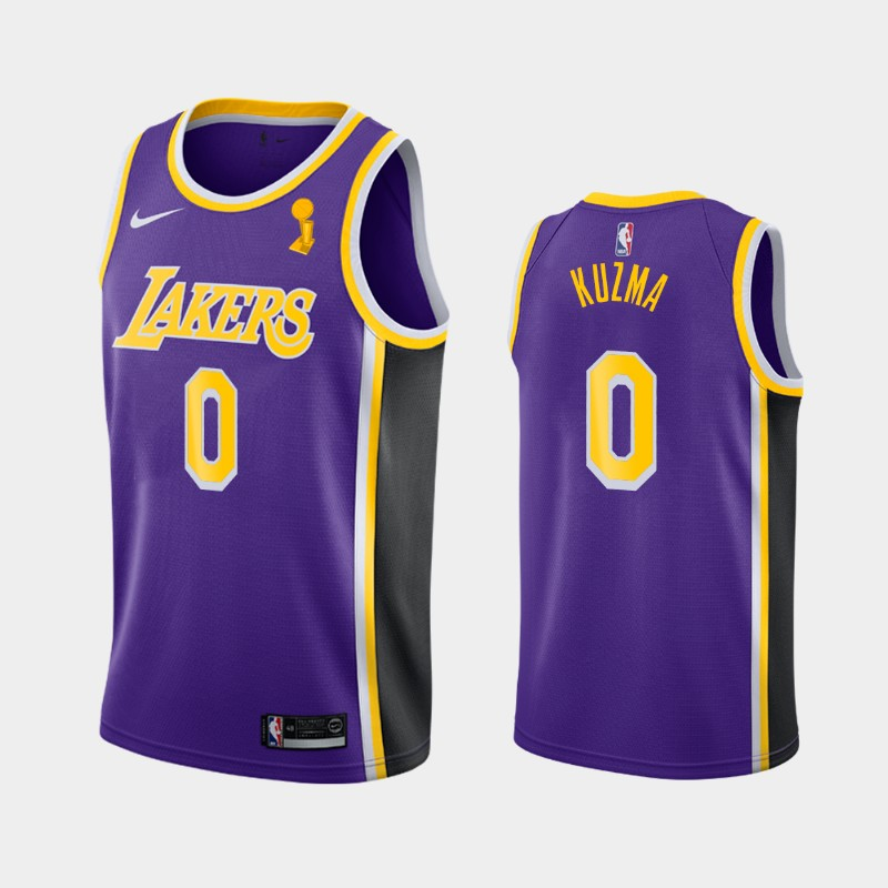 Kyle Kuzma Lakers 2020 NBA Finals Champions Purple Statement Jersey