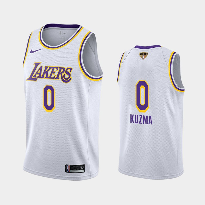 Kyle Kuzma Lakers 2020 NBA Finals Bound White Association Social Justice Jersey