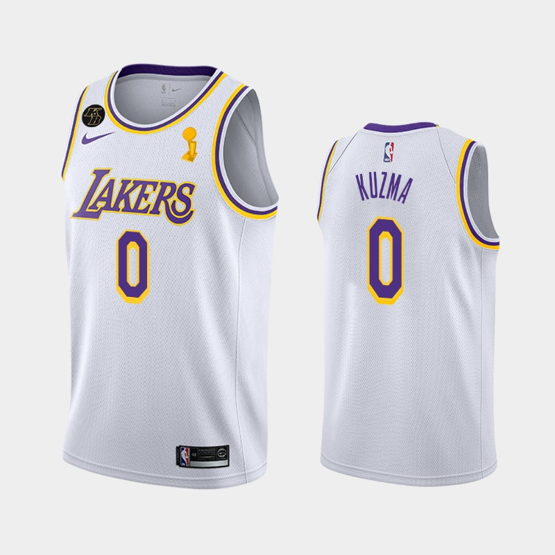 Kyle Kuzma Lakers 2020 NBA Finals Champions White Association Jersey