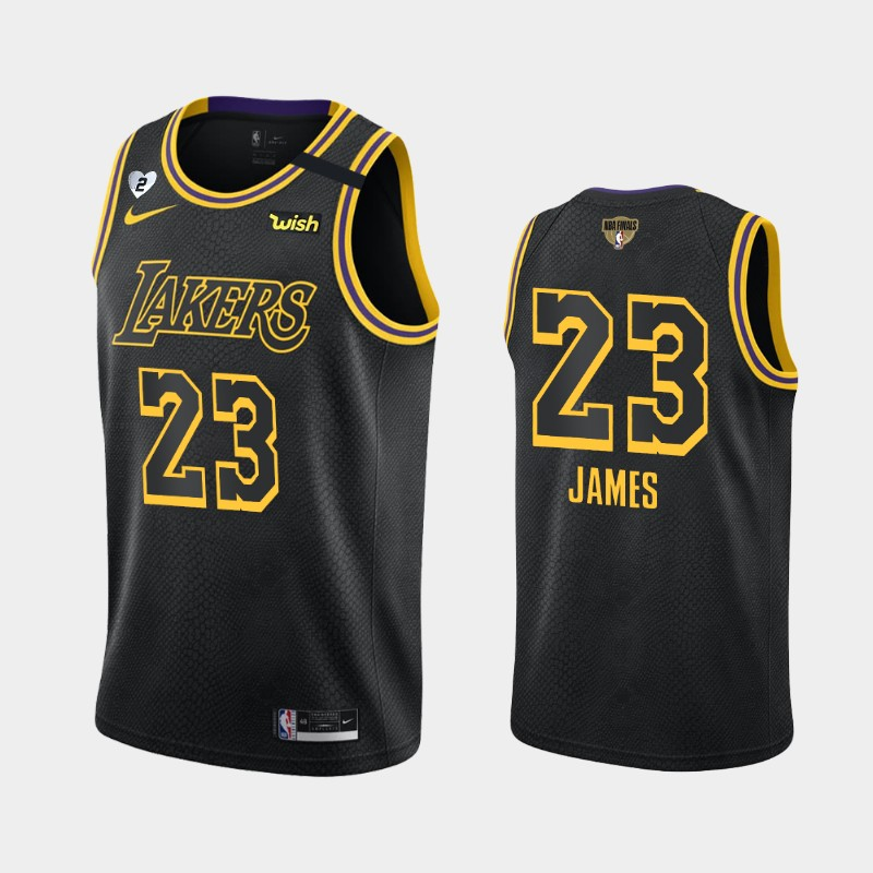 LeBron James Lakers 2020 NBA Finals Bound Black Honor Kobe and Gianna Jersey