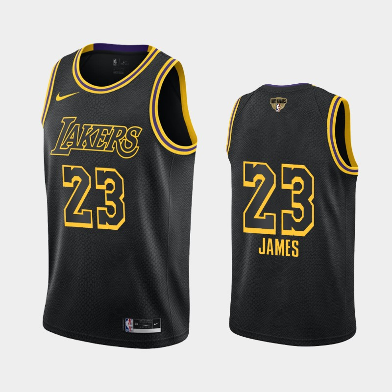 LeBron James Lakers 2020 NBA Finals Bound Black Mamba Edition Social Justice Jersey