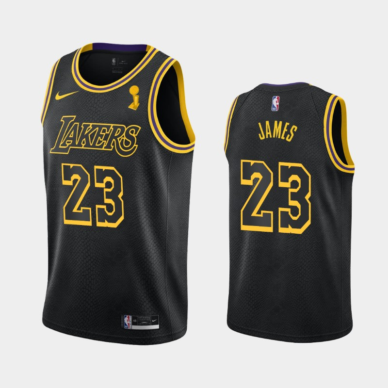 LeBron James Lakers 2020 NBA Finals Champions Black Mamba Tribute City Jersey
