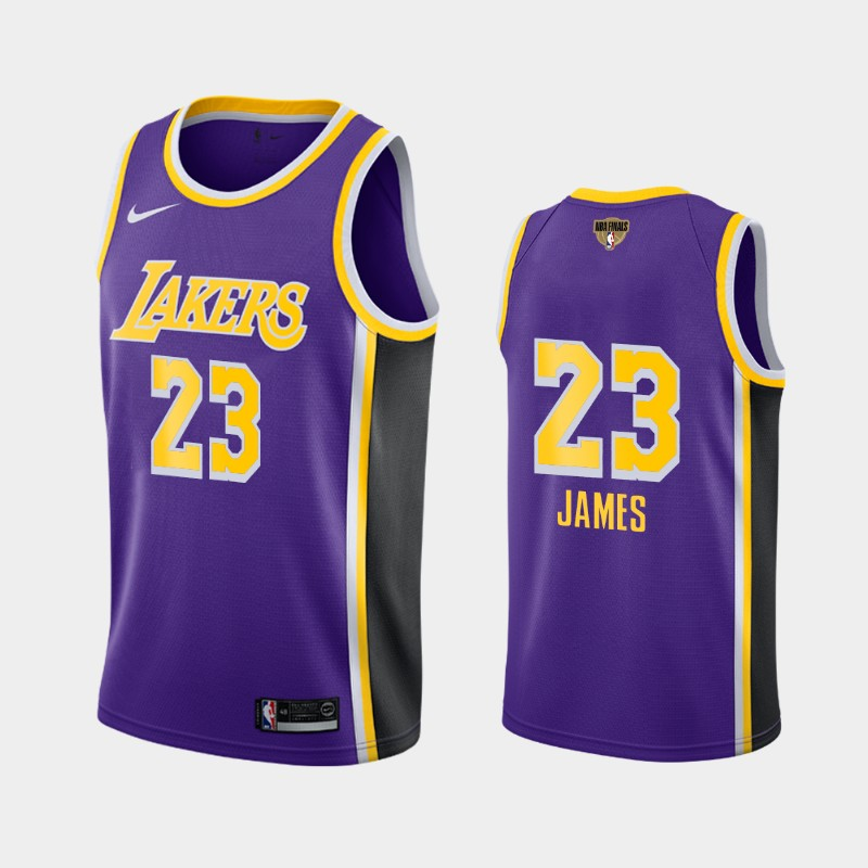 LeBron James Lakers 2020 NBA Finals Bound Purple Statement Social Justice Jersey