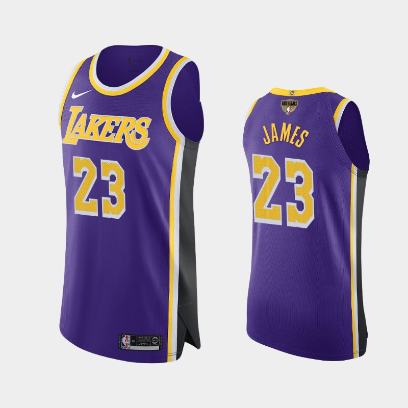 LeBron James Lakers 2020 NBA Finals Bound Purple Statement Authentic Jersey
