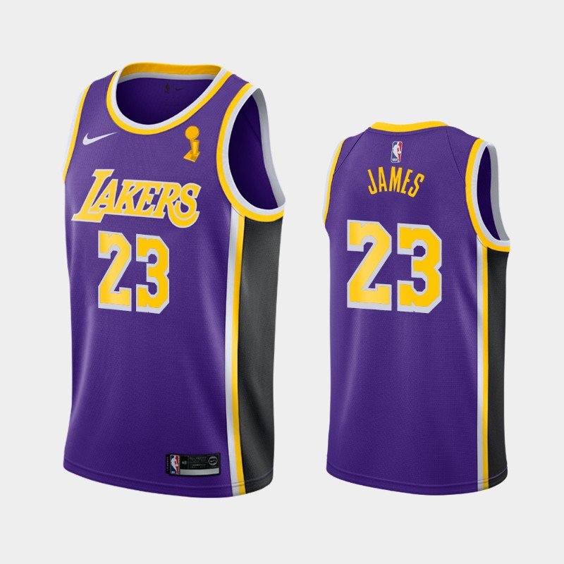 LeBron James Lakers 2020 NBA Finals Champions Purple Statement Jersey