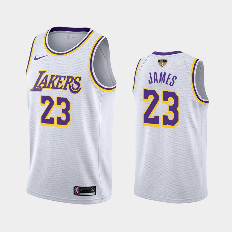 LeBron James Lakers 2020 NBA Finals Bound White Association Jersey