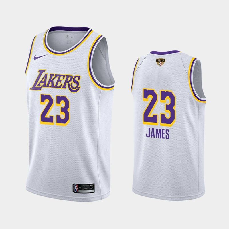LeBron James Lakers 2020 NBA Finals Bound White Association Social Justice Jersey