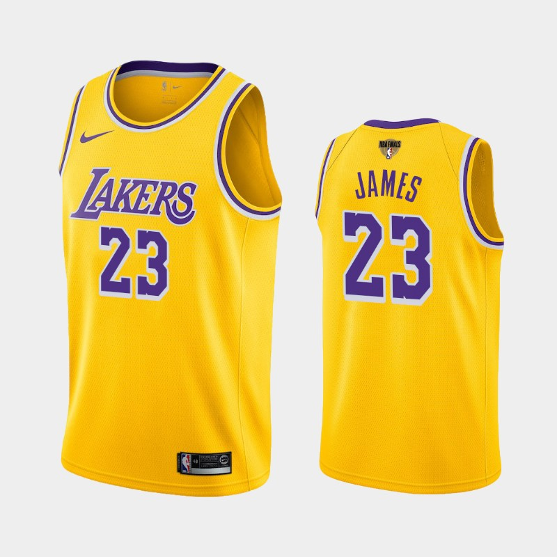LeBron James Lakers 2020 NBA Finals Bound Yellow Icon Jersey