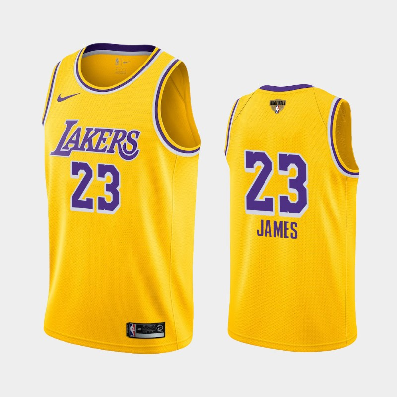 LeBron James Lakers 2020 NBA Finals Bound Yellow Icon Social Justice Jersey