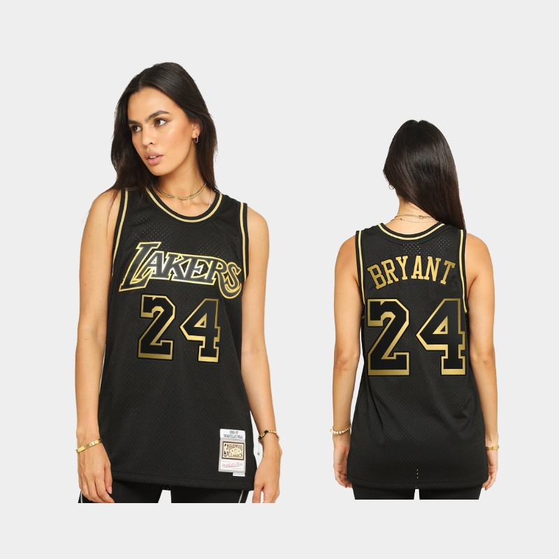 Los Angeles Lakers Kobe Bryant 2021 Golden Edition Black Limited Allocation Hardwood Classics Jersey