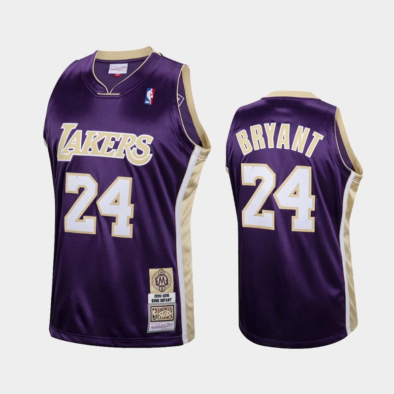 Los Angeles Lakers Kobe Bryant Hall of Fame Class of 2020 Purple Hardwood Classics Throwback Jersey