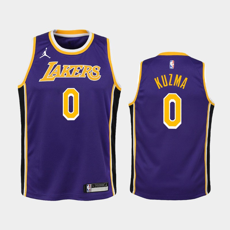 Youth 2020-21 Lakers Kyle Kuzma Statement Purple Jersey