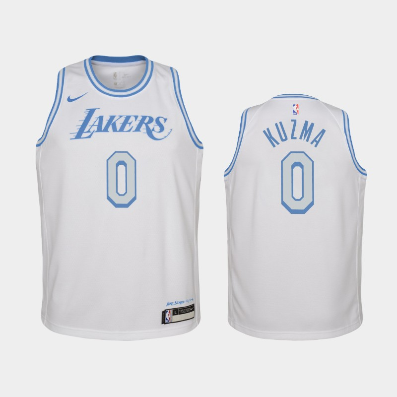 Youth 2020-21 Lakers Kyle Kuzma City White Jersey