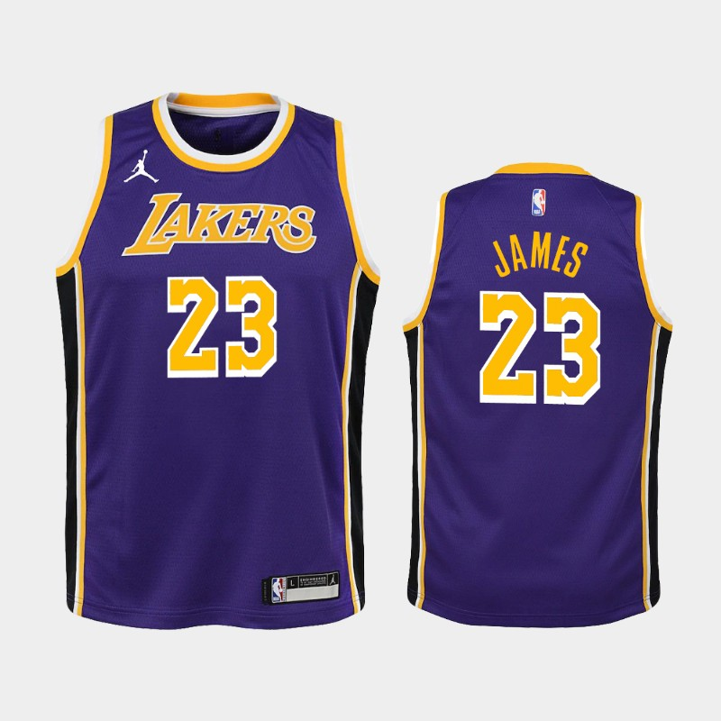 Youth 2020-21 Lakers LeBron James Statement Purple Jersey