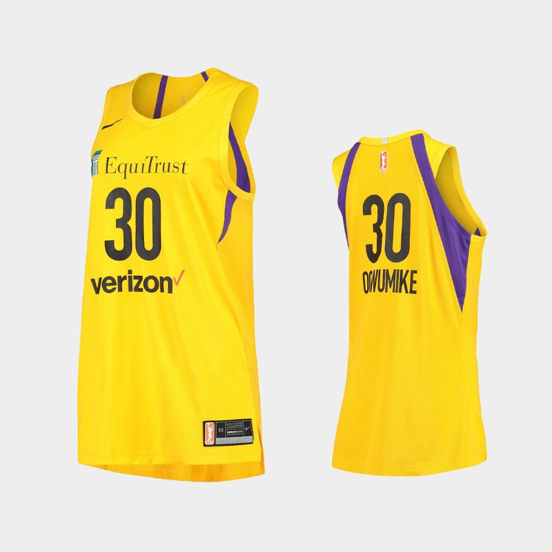 Los Angeles Sparks Nneka Ogwumike Authentic Player Jersey - Gold