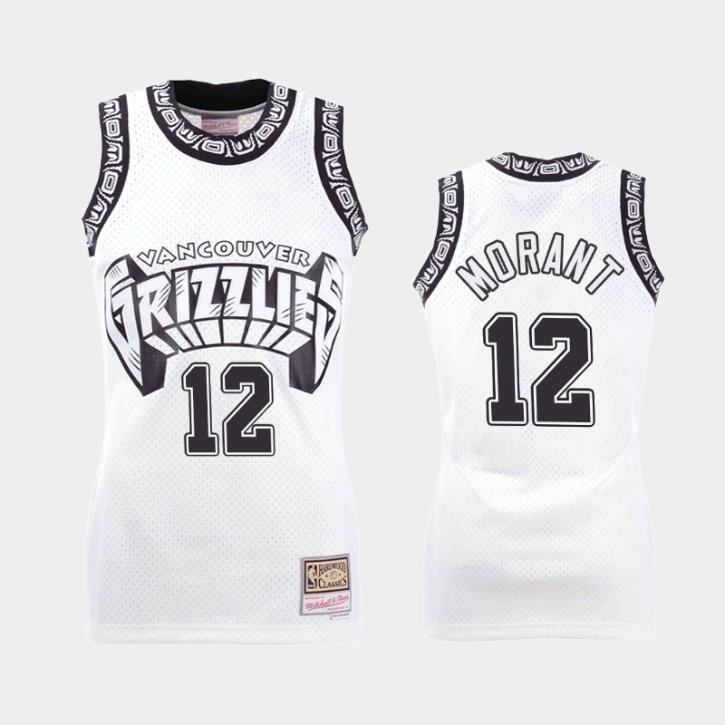 Memphis Grizzlies Ja Morant Concord Collection White Hardwood Classics Jersey