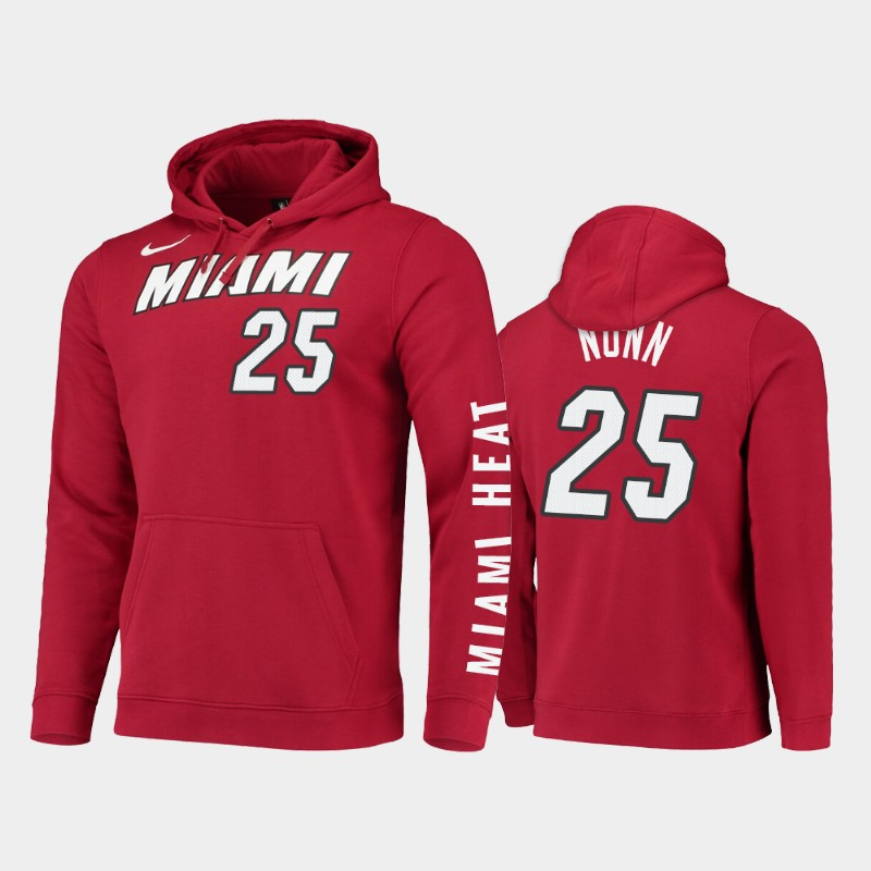 Miami Heat Kendrick Nunn Statement Pullover Hoodie - Red