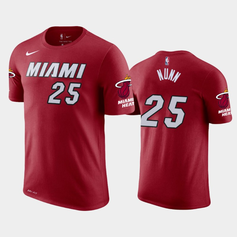 Kendrick Nunn Miami Heat Red Statement T-Shirt