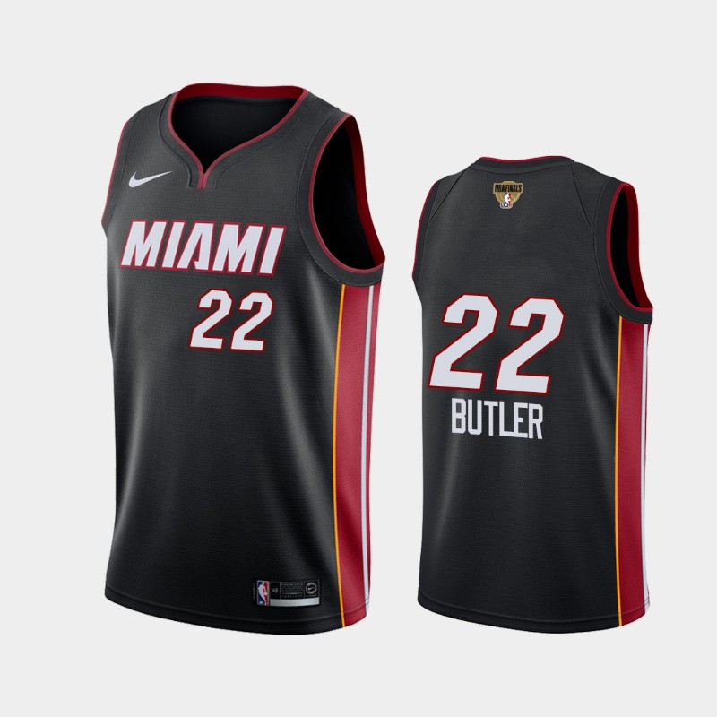 Jimmy Butler Heat 2020 NBA Finals Bound Black Icon Social Justice Jersey