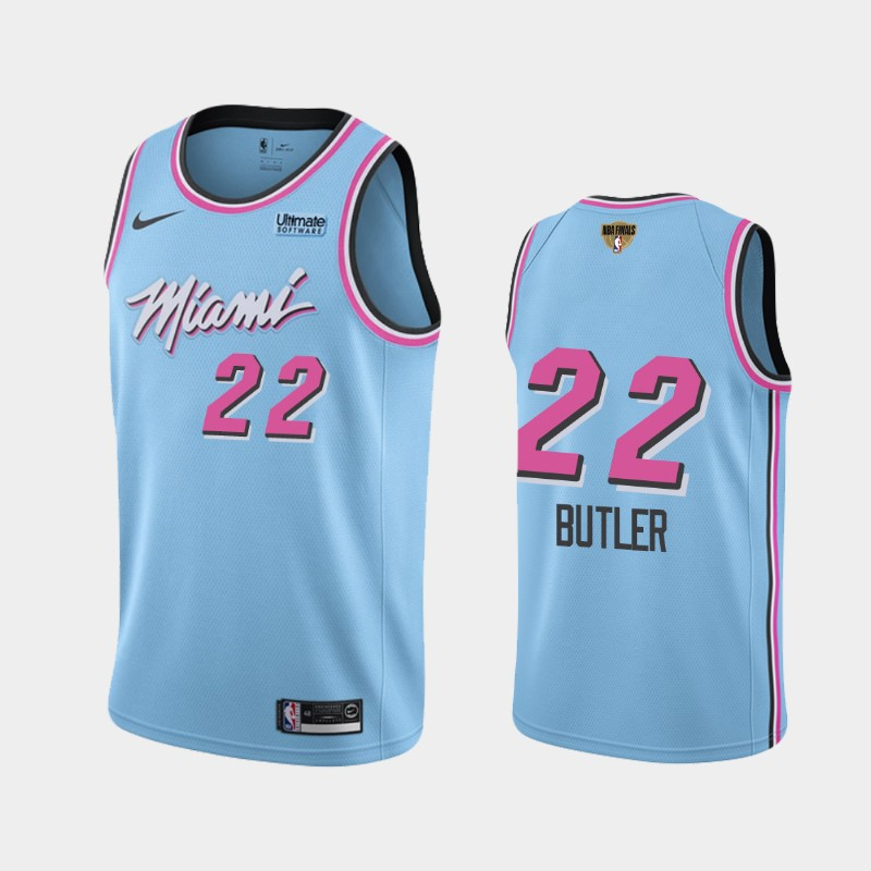 Jimmy Butler Heat 2020 NBA Finals Bound Blue Vice Night City Social Justice Jersey