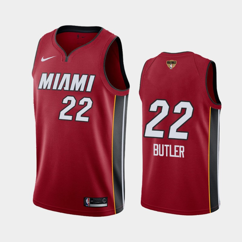 Jimmy Butler Heat 2020 NBA Finals Bound Red Statement Social Justice Jersey