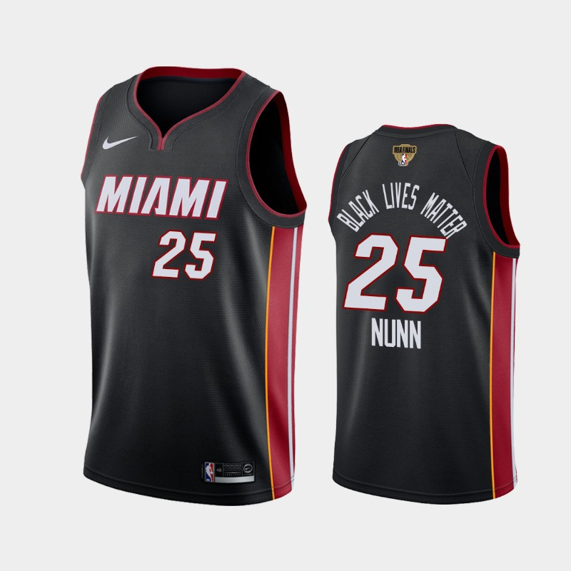 Kendrick Nunn Heat 2020 NBA Finals Bound Black Icon Black Lives Matter Jersey