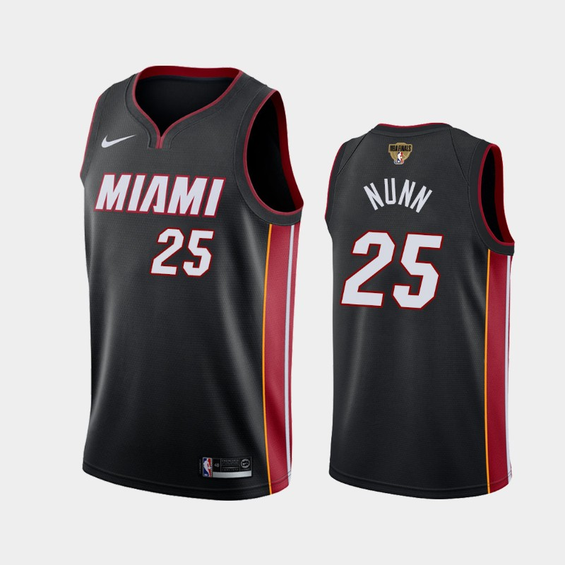 Kendrick Nunn Heat 2020 NBA Finals Bound Black Icon Jersey