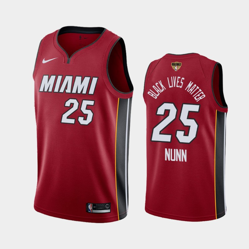 Kendrick Nunn Heat 2020 NBA Finals Bound Red Statement Black Lives Matter Jersey