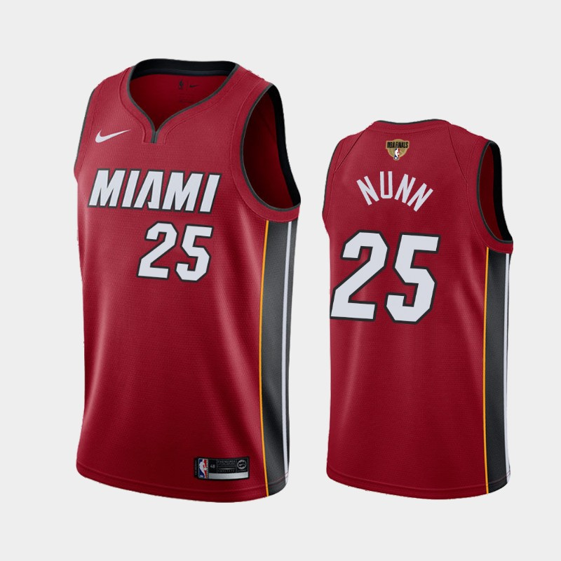 Kendrick Nunn Heat 2020 NBA Finals Bound Red Statement Jersey