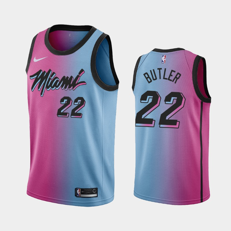 Miami Heat Jimmy Butler 2020-21 City Gradient Jersey - Pink Blue