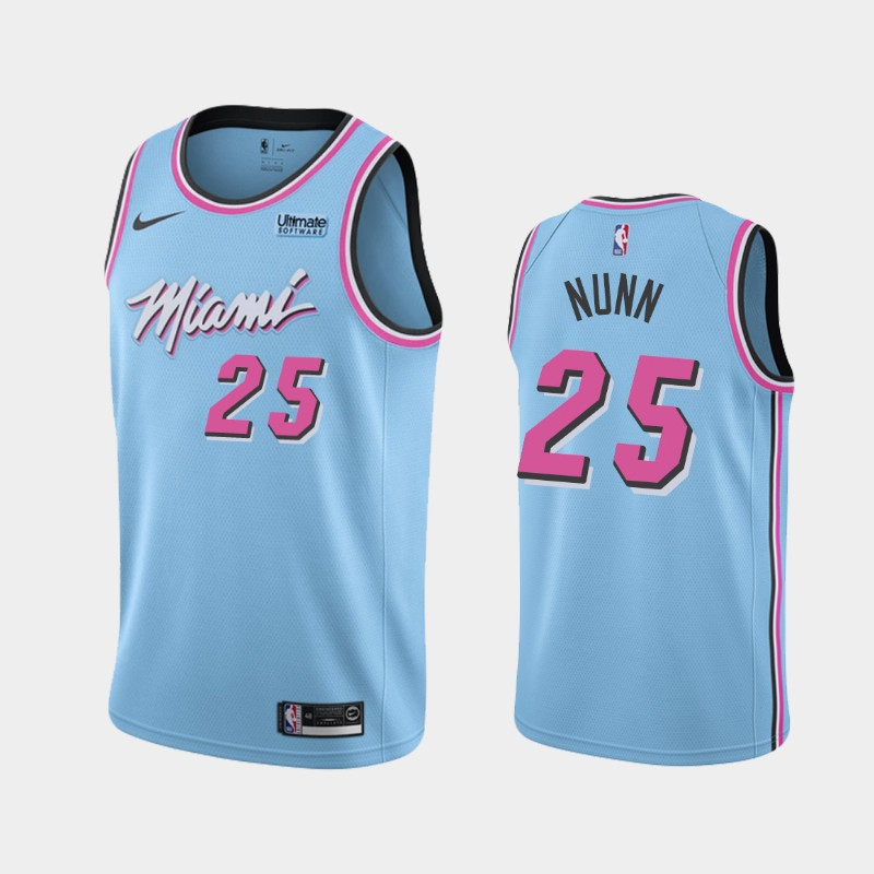 Miami Heat Kendrick Nunn 2019-20 City ViceWave Jersey - Blue