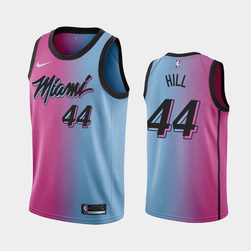 Miami Heat Solomon Hill 2020-21 City Gradient Jersey - Pink Blue