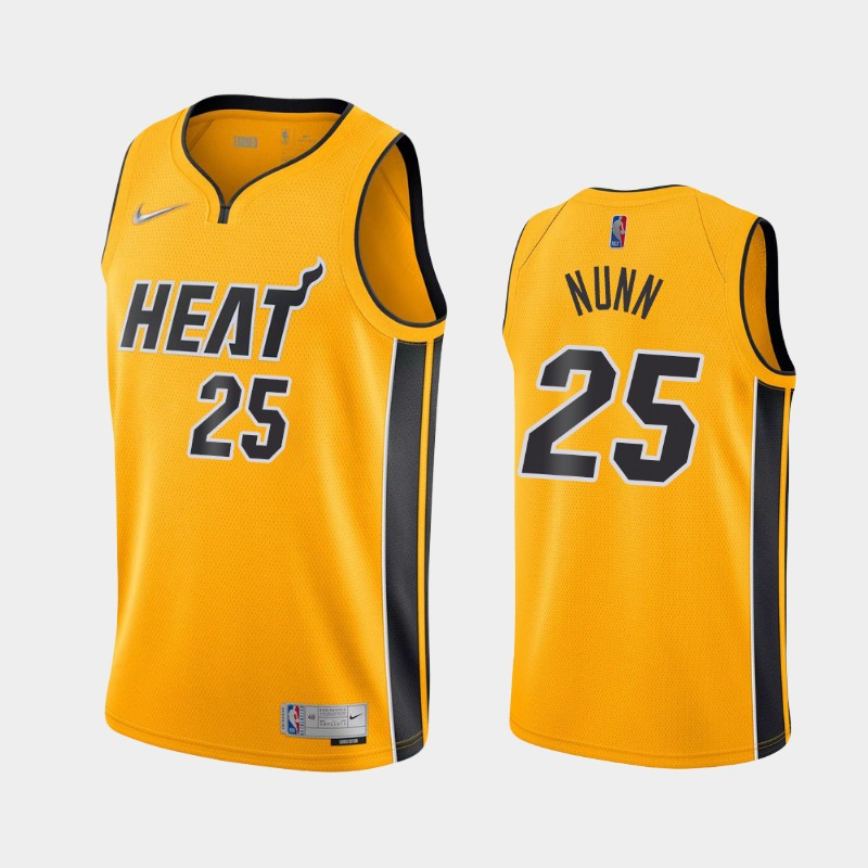 Miami Heat Kendrick Nunn 2021 Earned Jersey - Yellow