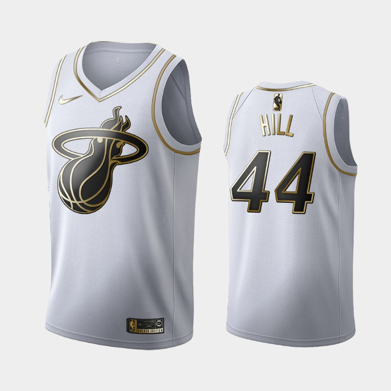 Heat Solomon Hill White Golden Logo Jersey