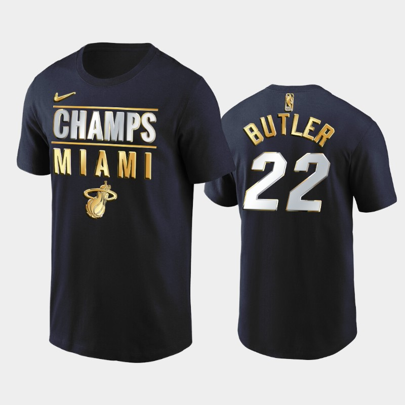 Jimmy Butler Miami Heat Black 2020 Eastern Finals Champs Golden Limited T-Shirt