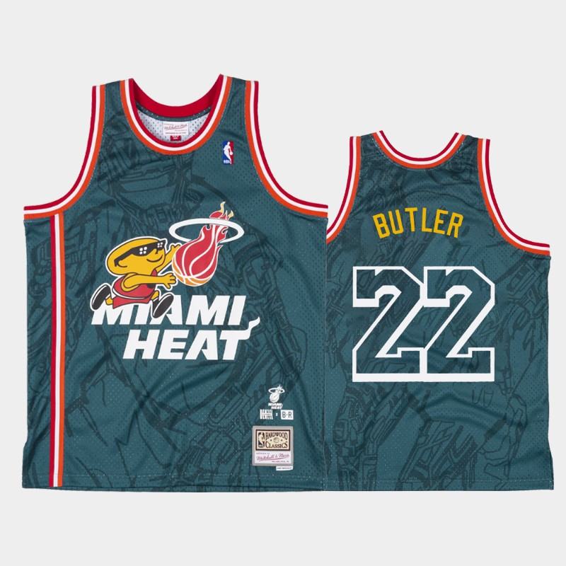 Jimmy Butler Miami Heat Denzel Curry x BR Remix Green Jersey