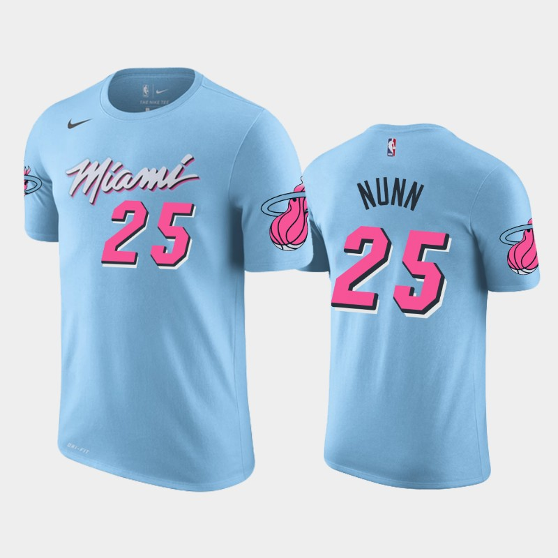 Kendrick Nunn Miami Heat Blue City Name & Number T-Shirt